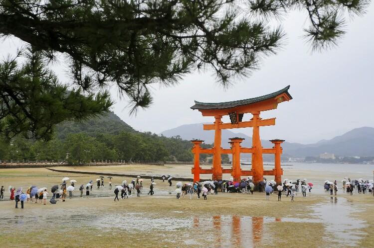 Brama tori w Miyajima