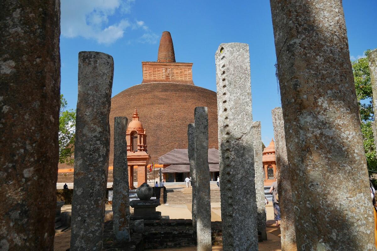 Abhajyagiri w Anuradhapura na Sri Lance