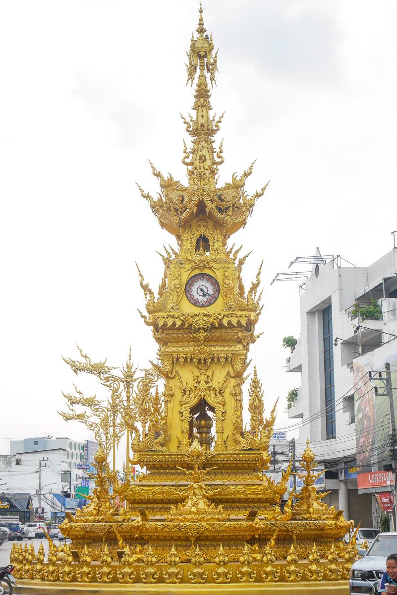wieża zegarowa w Chiang Rai