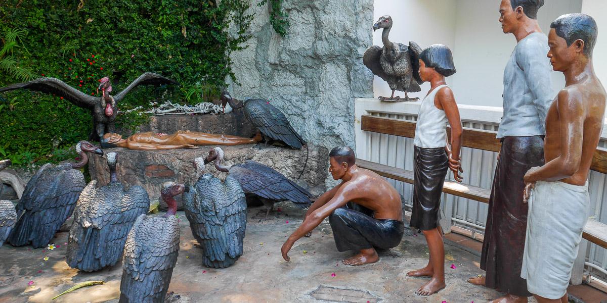 Sępy w Wat Saket