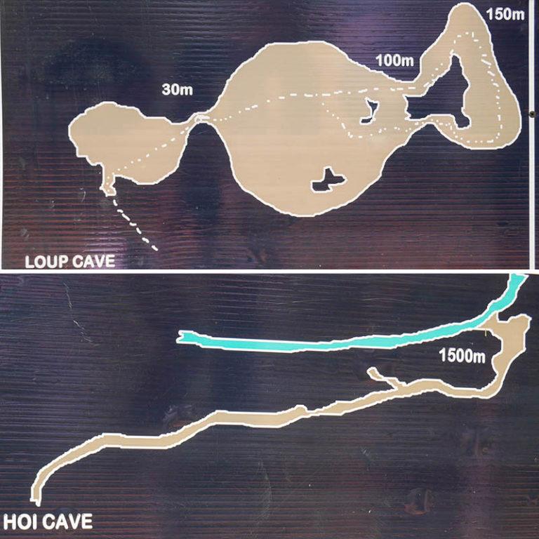 Plan jaskiń Loup i Hoi