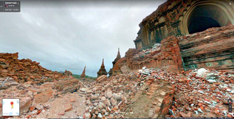 Sulamani po trzęsieniu ziemi, fot. Google maps
