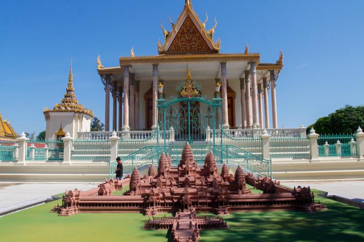 pałac Królewski w Phnom Penh w Kambodży