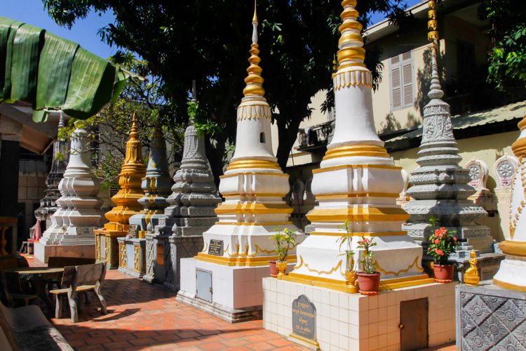 Wat Ounalom w Phnom Penh w Kambodży