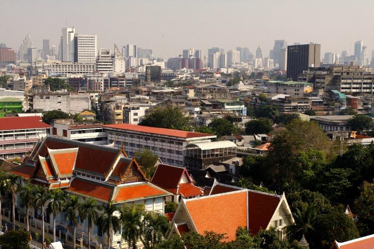 panorama Bangkoku w Tajlandii