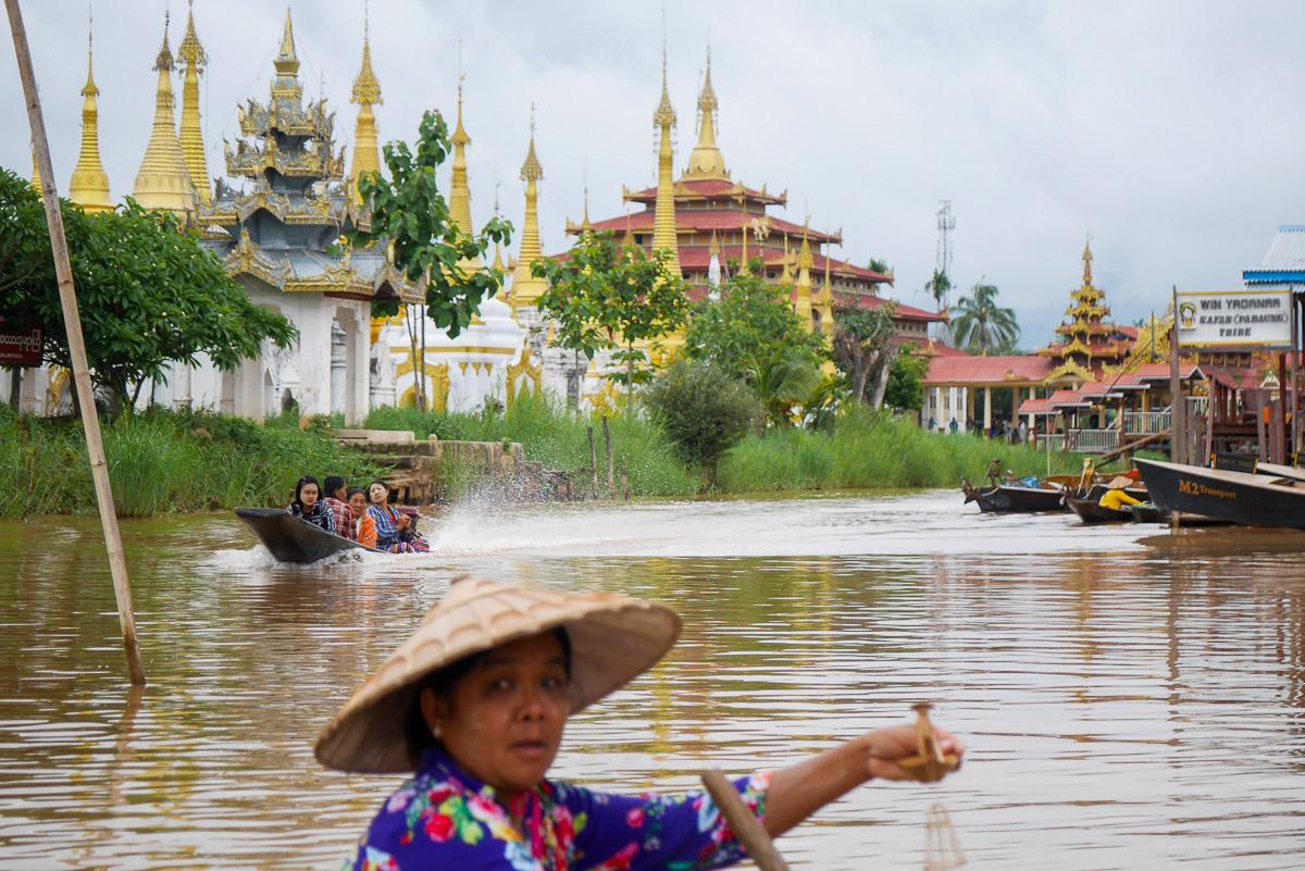 jezior Inle Lake w Birmie