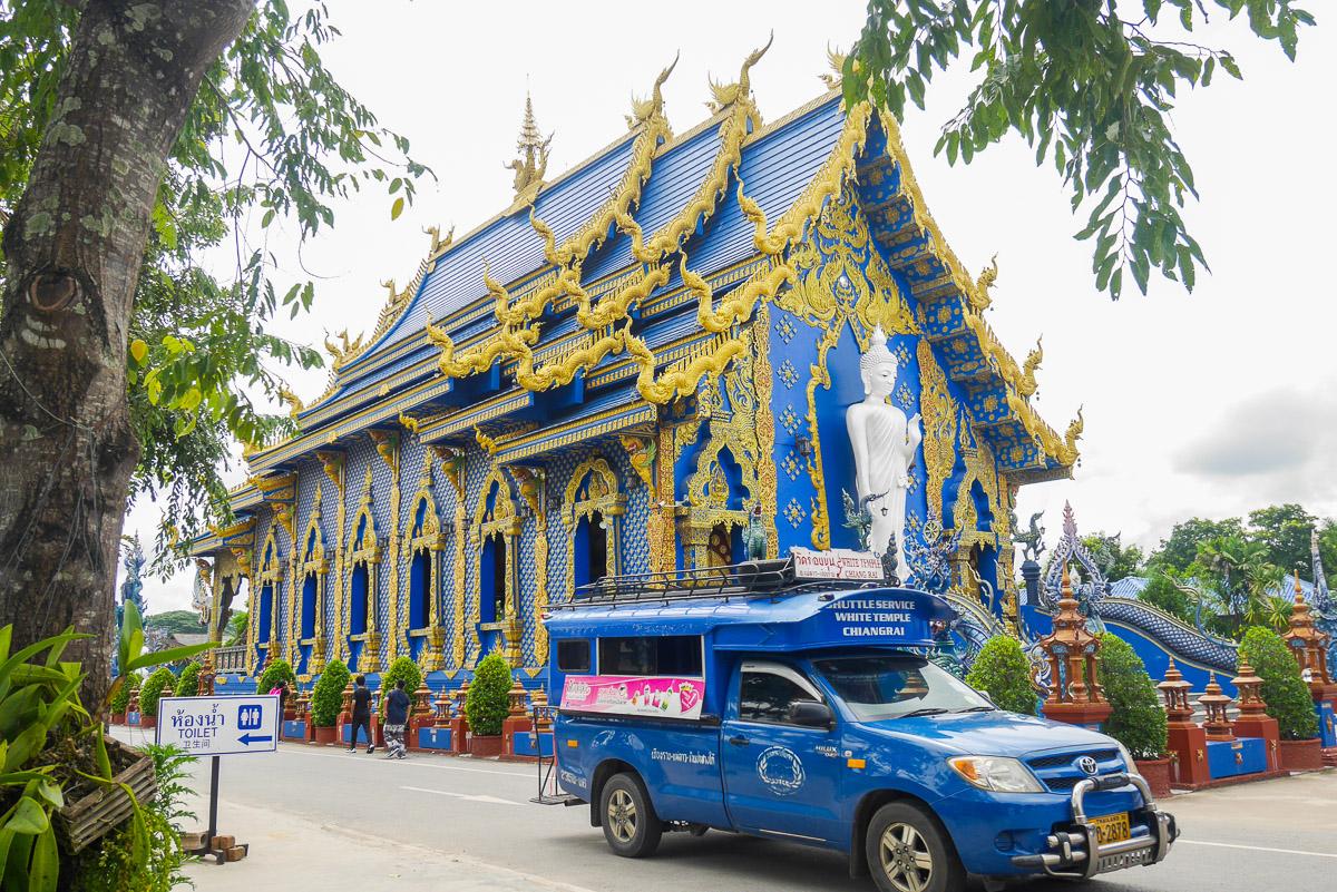 Wat Rong Seur Ten w Chiang Rai