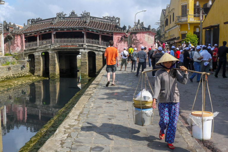 Japoński Most w Hoi An w Wietnamie