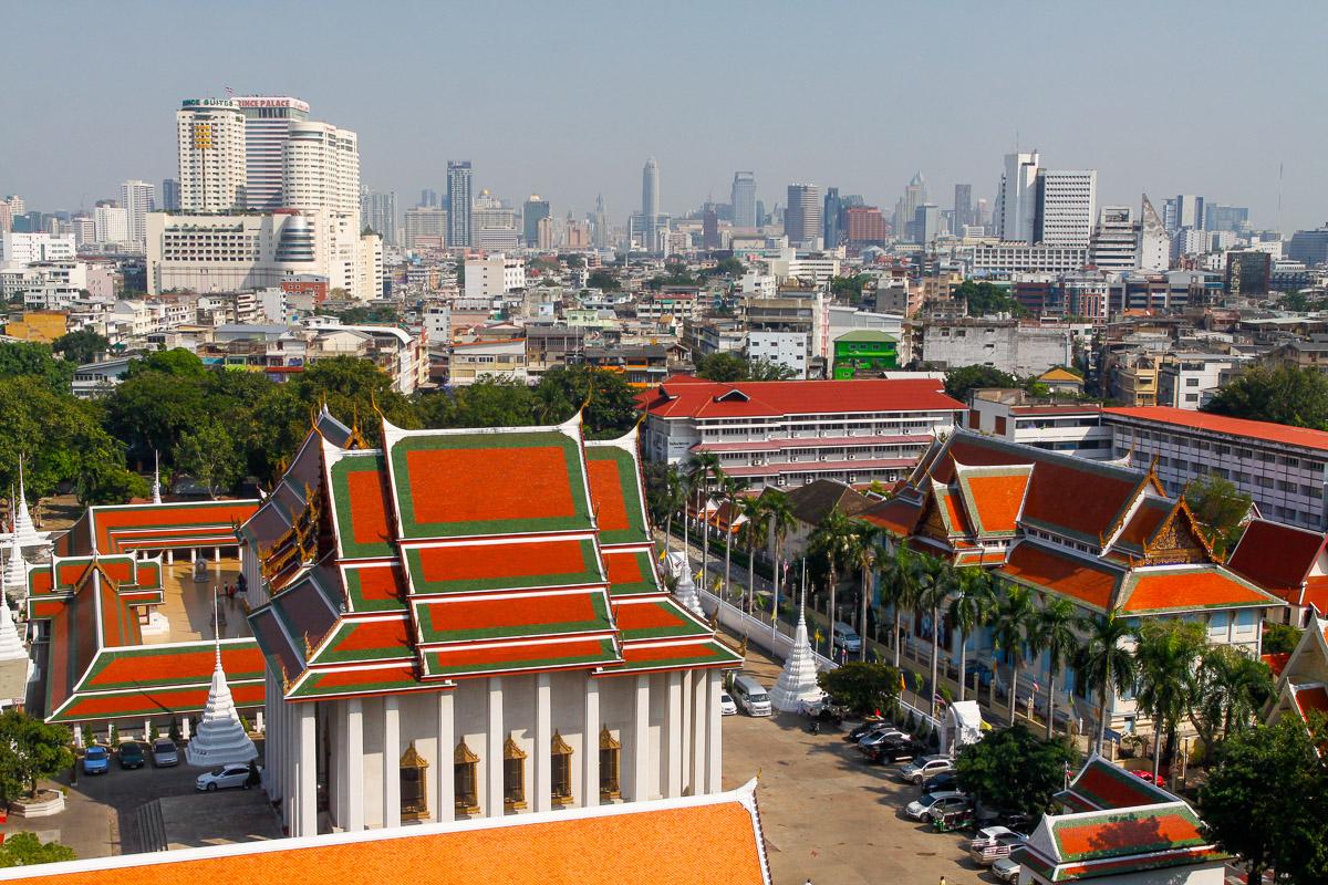 Wat Saket w Bangkoku w Tajlandii