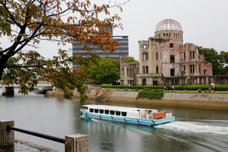 Genbaku Dome, czyli Kopuła Bomby Atomowej nad rzeką Motoyasu