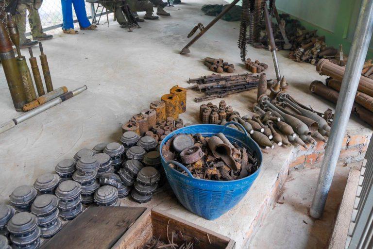 Pozostałości po wojnie w Muzeum Min Lądowych