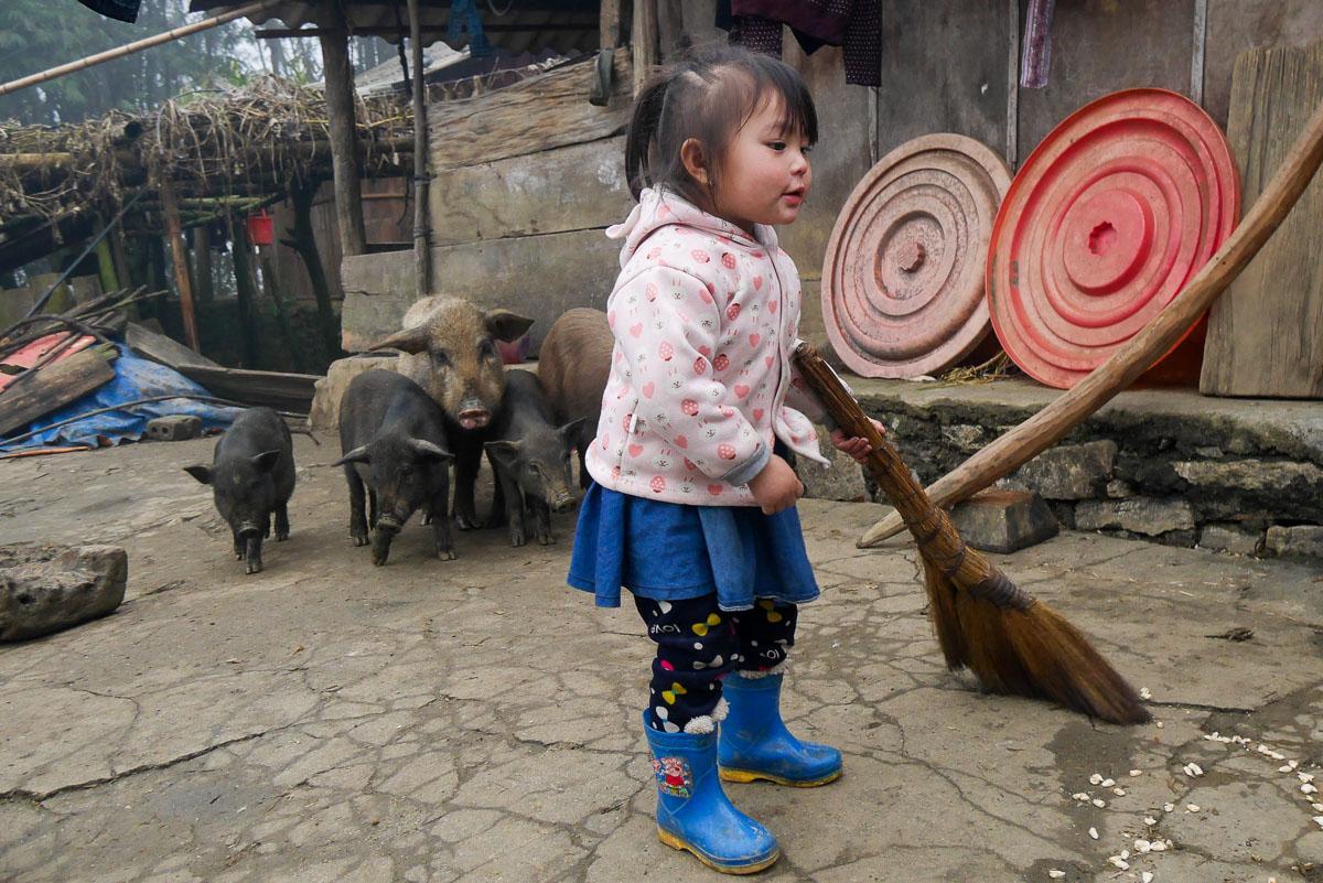 Wioska w północnym Wietnamie