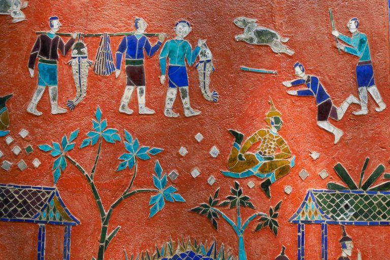 Sceny z życia Laotańczyków