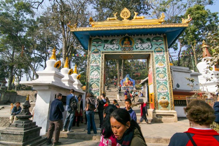 Wejście do Swayambhunath w Delhi - Indie