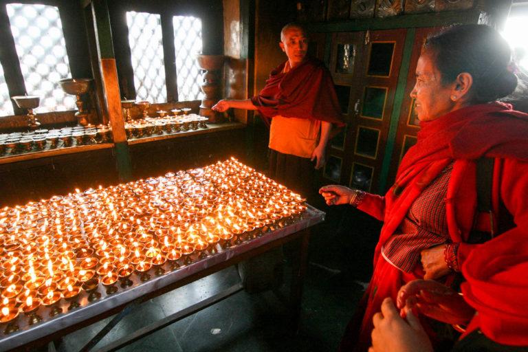 Świątynia Swayambhunath w Delhi w Indiach