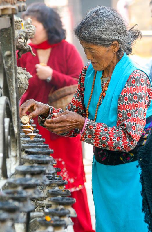 Wokół stupy Swayambhunath w Delhi