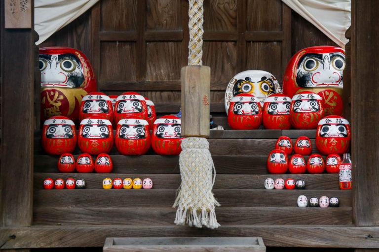 Lalka daruma w świątyni Achi w Kurashiki
