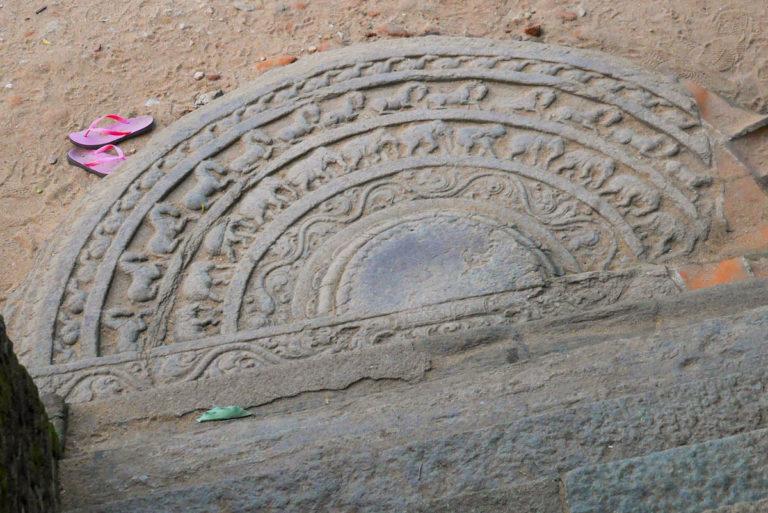 Moonstone w Polonnaruwa