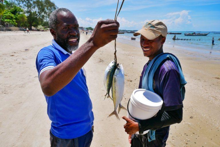 Połów miejscowych rybaków
