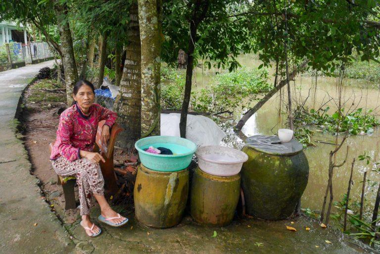 Wioska w Delcie Mekong