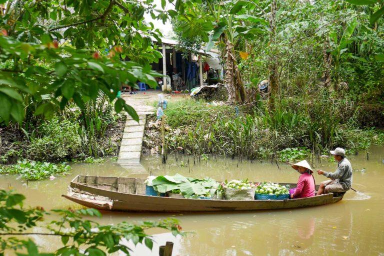 Wąskie kanały Delty Mekong
