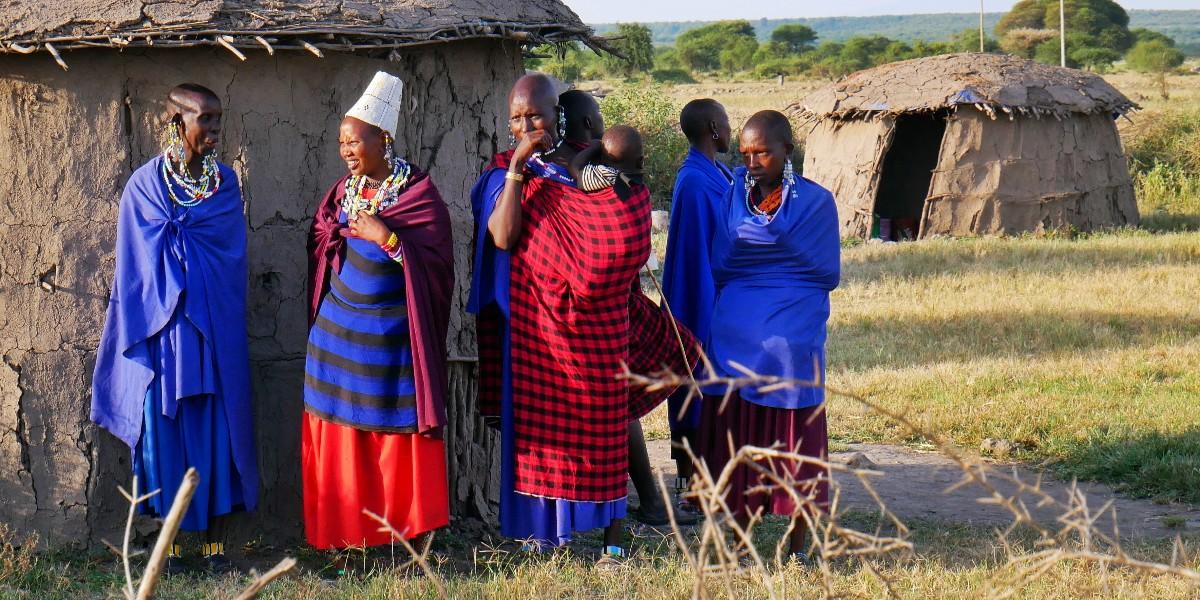 Masajowie w Afryce