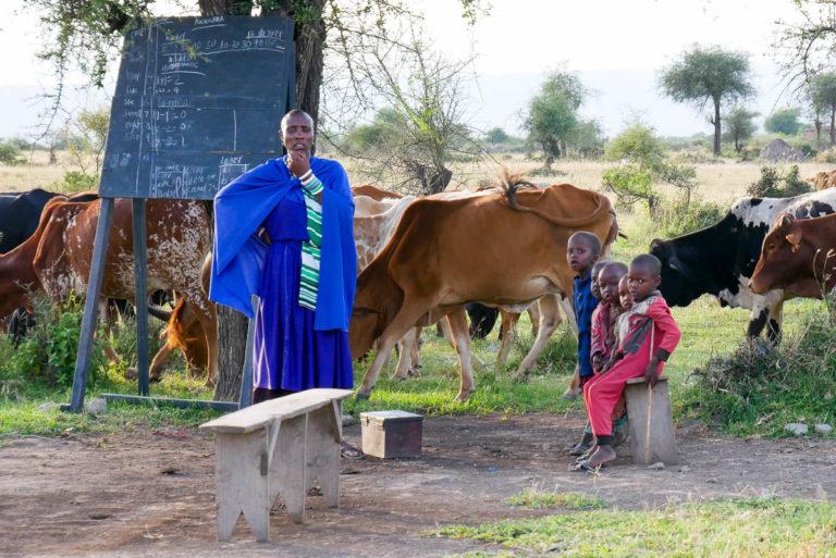 Szkoła w wiosce Masajów