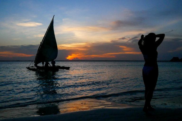 Zachód słońca na Zanzibarze