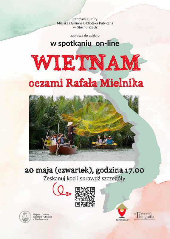 Plakat spotkania o Wietnamie