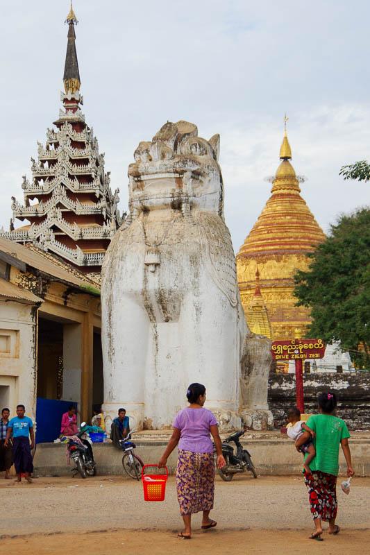 Shwezigon Pagoda w Nyaung-U (Bagan)