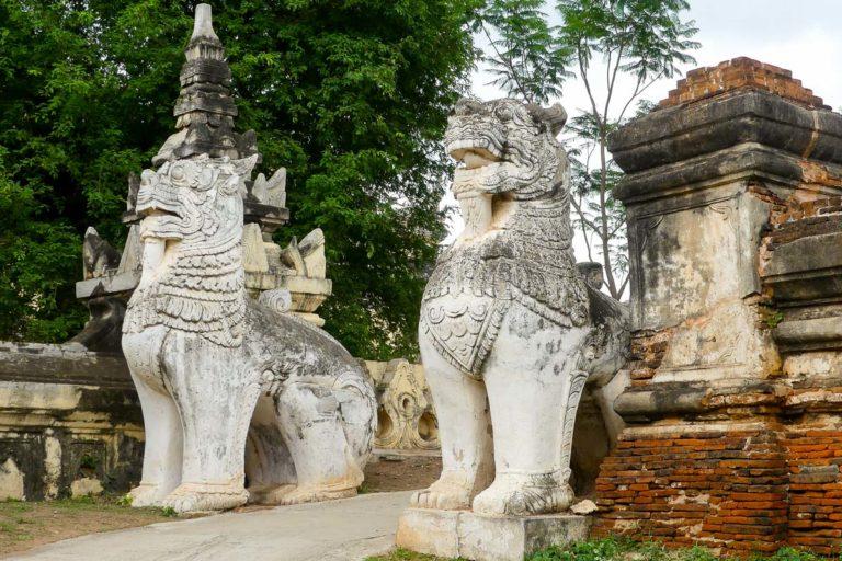 Wejście do klasztoru Maha Aung Mye Bonzan w Inwa