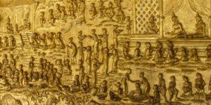 Płaskorzeźby na werandzie Wat Mai