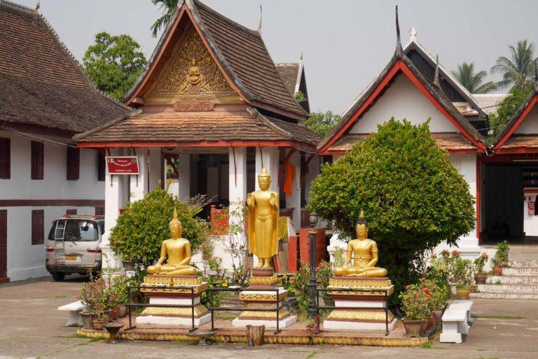 Wat Mai jest jedną z największych świątyń w Luang Prabang